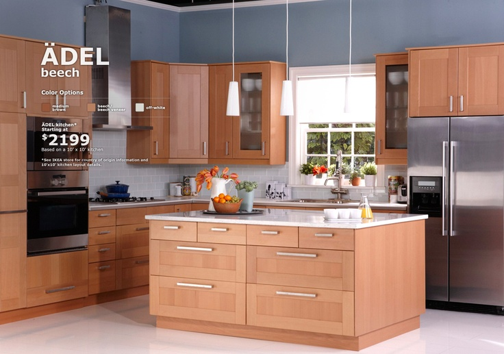 Ikea adel kitchen 2199 for 10 39 x 10 39 kitchens for Adel kitchen cabinets