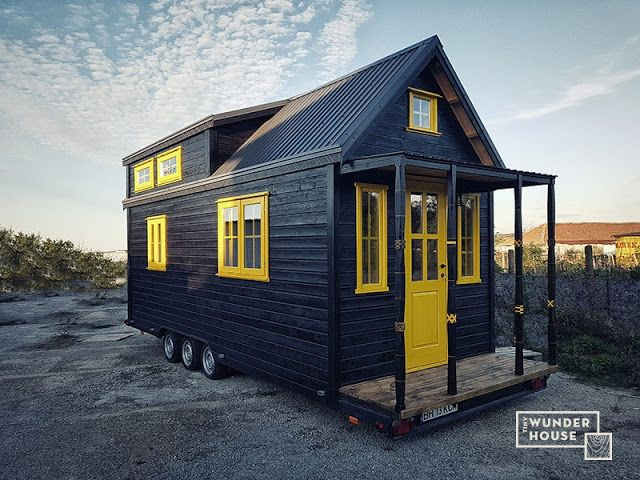 262 besten tiny house exteriors bilder auf pinterest. Black Bedroom Furniture Sets. Home Design Ideas