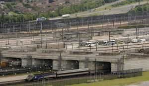 What Rabies Has to Do with the Channel Tunnel and Other Facts: Vehicles approach the entrance of the Channel Tunnel on June 27, 2006 in Folkestone, England.