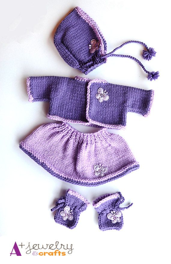 Knitting Patterns For Dolls And Teddy Bears : Top 400 ideas about Teddy Bears Clothes - Knitting and Crochet Patterns on Pi...