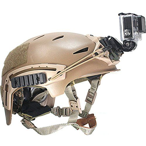 Ollivan� Gopro Kamera im Freien DV Zubeh�r Helm vorne Mount Kit schwarz f�r GoPro Hero, Hero2, Hero3, Hero3 +, Hero4