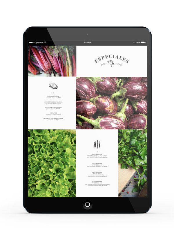 Page du site internet de Montagü sur iPad.