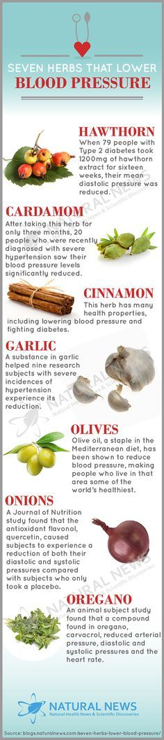 Seven Herbs That Lower Blood Pressure...