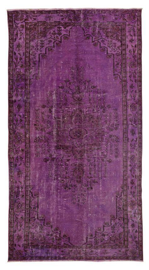 Purple Overdyed Rug Bedroom Inspire Rugs On Carpet Rugs
