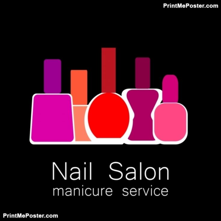 Nail Salon logo. Symbol of manicure. Design sign - nail care. Beauty industry, nail salon, manicure  poster #poster, #printmeposter, #mousepad