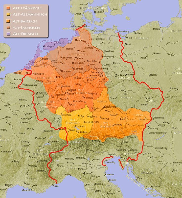 German language around 962