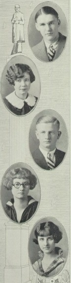 1925 hair, in the yearbook of Ross high school in Fremont, Ohio.  #1925 #Ross #Fremont #yearbook