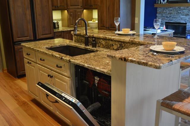 Kitchen sink dishwasher 3 kitchen islands with seating - Kitchen island ideas with sink ...