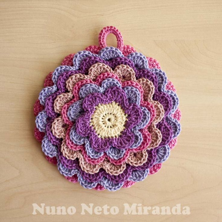 Blooming Flower Potholder                                                                                                                                                                                 Mais
