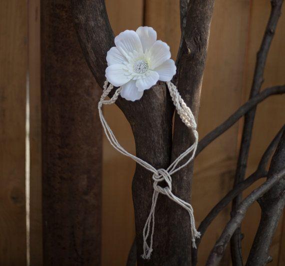 White Flower Crown Headband Newborn Baby by GabriCollection