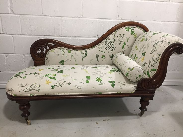 Victorian chaise longue in Christopher Farr Fields