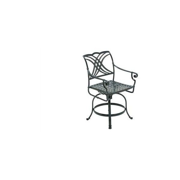 Winston Coronado Cast Aluminum Metal Arm Swivel Counter Stool ($576) ❤ liked on Polyvore featuring home, outdoors, patio furniture, outdoor stools, folding outdoor bar stools, outdoor furniture, outdoor bar stools, outside bar stools en outdoor counter stools