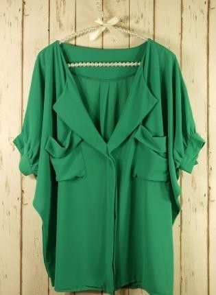 slouchy emerald green top