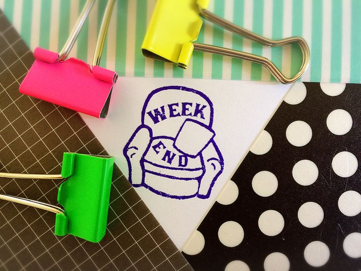 Relax, take a break! Enjoy your weekend with this cute retro style chair stamp. Perfect for planning your weekend, making to do lists or a reminder for those errands you don't want to forget. #planner #rubberstamps #stamps #journal #diary #weekend
