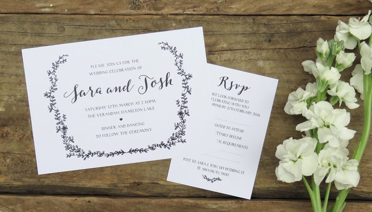 Wild Flower Wedding Invitation by Creative Box