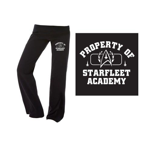 Star Trek Starfleet Academy Ladies Fitness Pants [Black] | Star Trek Shop
