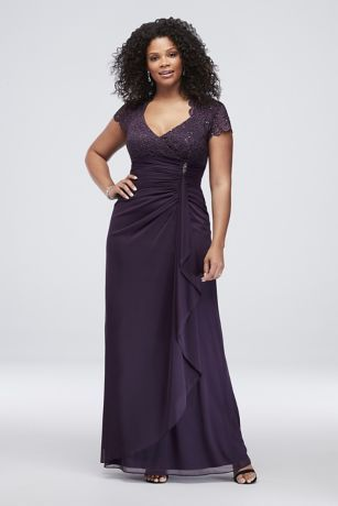 Long Sheath Cap Sleeves Formal Dresses Dress - Betsy and Adam ... 50f431a99