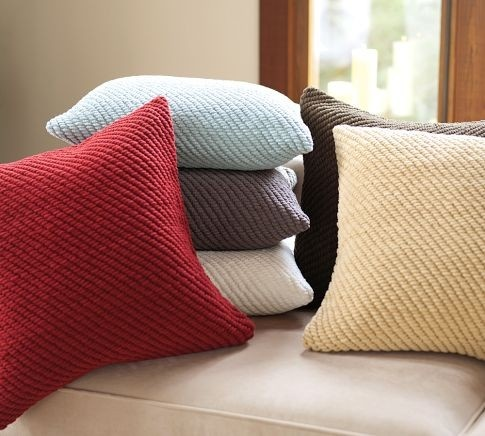 grand chenille pillow covers pillows pottery barn