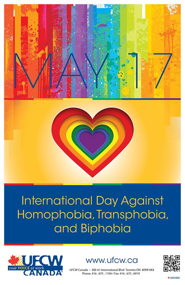 UFCW Canada supports the International Day Against Homophobia, Transphobia, and Biphobia – May 17