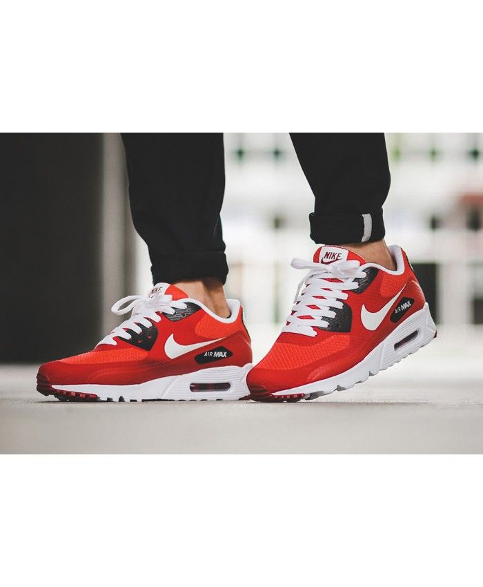 brand new 30092 53901 Mens Nike Air Max 90 Ultra Essential Action Red Highlights