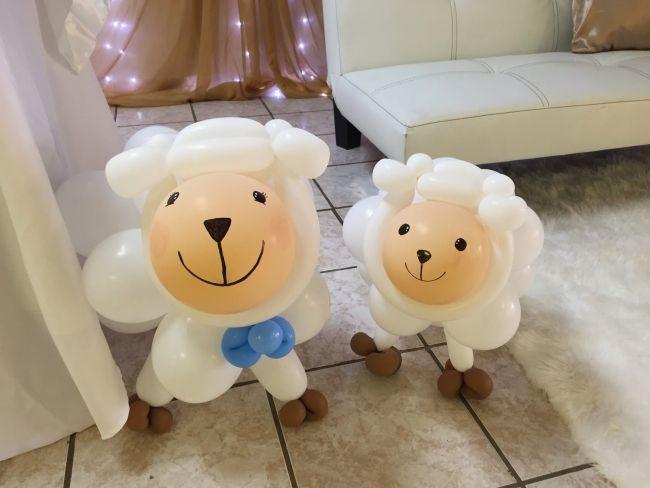 Little Lamb Themed Boys Baby Shower Party Decoration Balloon Ideas