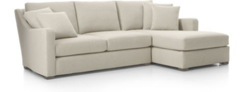 Verano 2-Piece Right Arm Chaise Sectional Sofa(Left Arm Loveseat, Right Arm Chaise) shown in Aurora, Canvas
