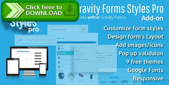 [ThemeForest]Free nulled download Gravity Forms Styles Pro Add-on from http://zippyfile.download/f.php?id=44820 Tags: ecommerce, bootstrap, form icons, form styles, forms, gravity, gravity form themes, gravity forms, gravity forms css, Gravity forms Design, gravity forms layout, gravity forms styles, gravity styles, icons, responsive forms, styles