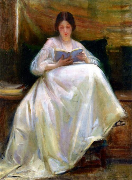 Laura Muntz Lyall (Canadian, 1860 - 1930), Woman Reading, 1903