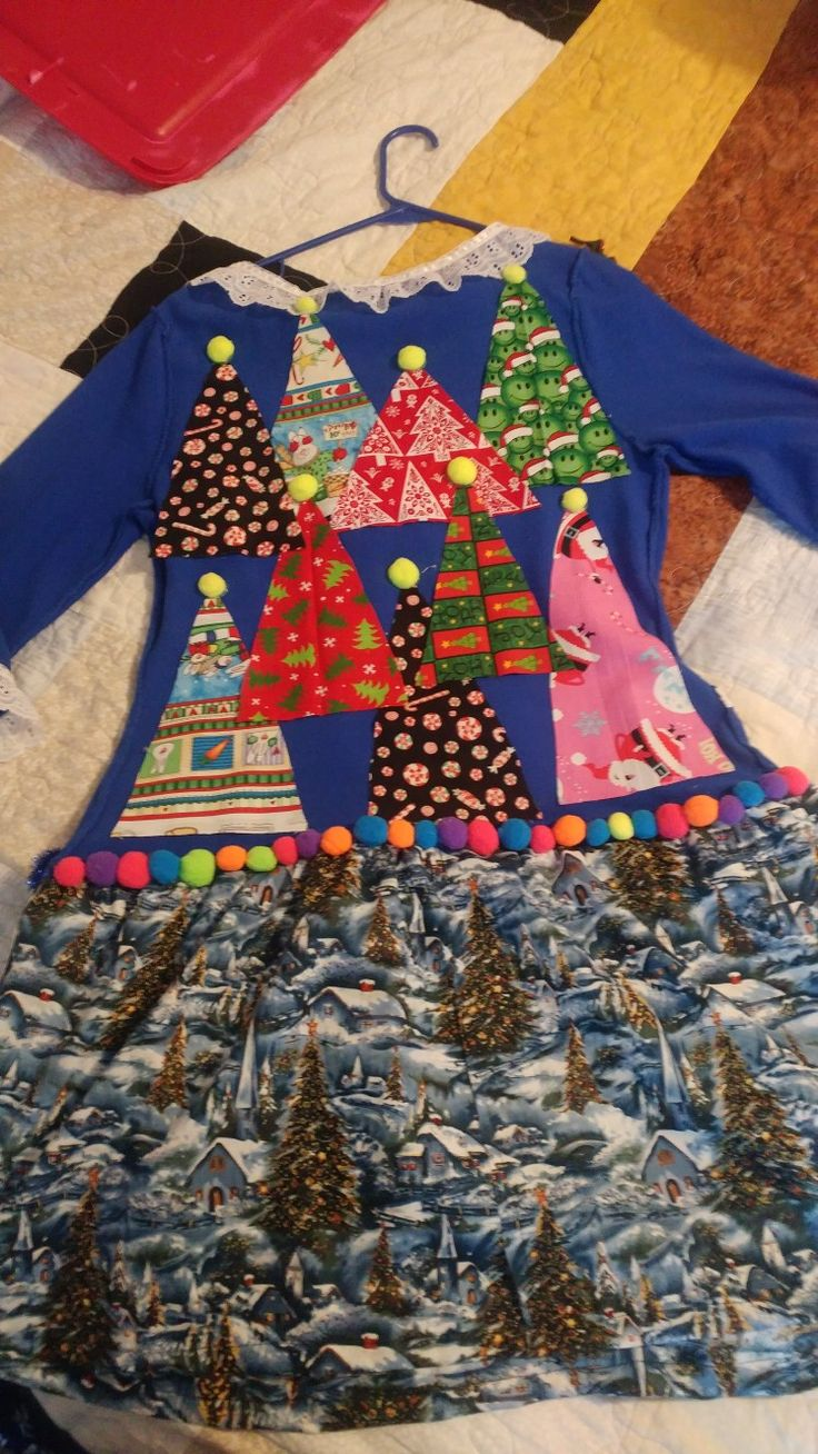Back side of my ugly Christmas sweater 2017.