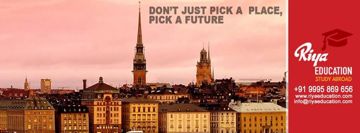 Don't just pick a place, Pick a Future !!!! For studying abroad get in touch with Riya Education. Visit our website .