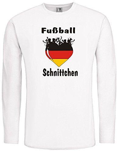 Fußball Schnittchen; ; LangarmShirt weiß von ShirtShop-Saar