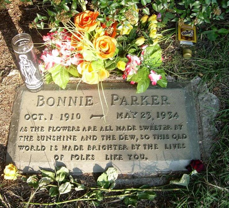 Bonnie Parkers grave site photos | Bonnie Parker's Grave. Some Have Said Only A Mother Could have Written ...