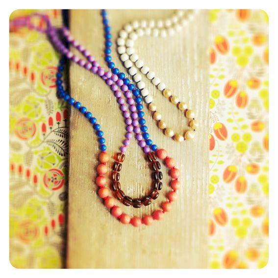 Reclaimed beaded necklaces by Pimelia