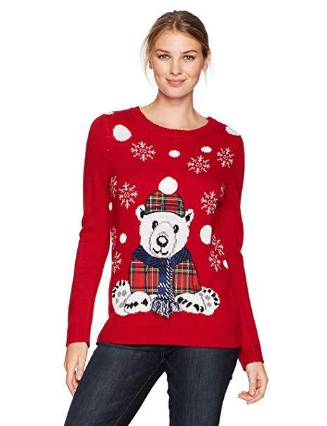 Notations Women\u0027s Ugly Christmas Sweater, Polo Bear, XL Christmas