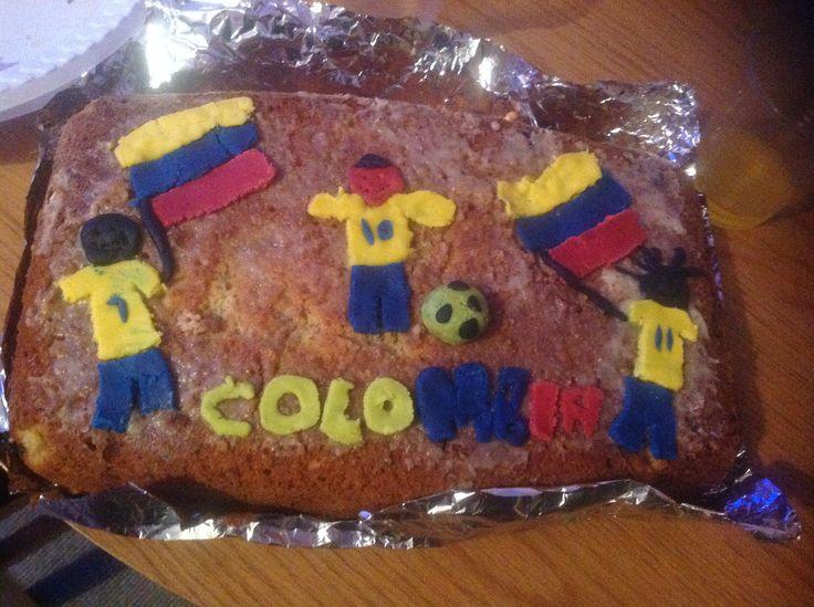 Pastel decoracion selecion colombia