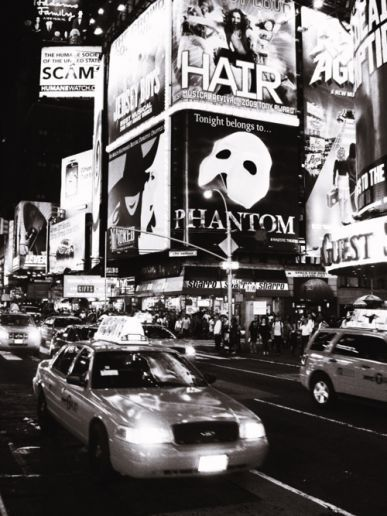Even in black and white, Broadway is magical. Totally on the bucket