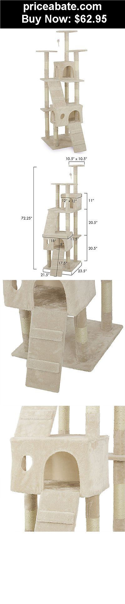 """Animals-Cats: New 72"""" Cat Tree Scratcher Play House Condo Furniture Toy Bed Post Pet House - BUY IT NOW ONLY $62.95"""