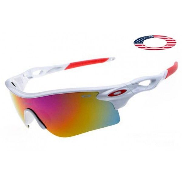 $13 - Cheap oakley free shipping radarlock sunglasses white / OO red iridium