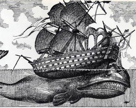 On the 20th November 1820 whaling vessel The Essex was attacked and sunk by a sperm whale off the coast of South America.  Having left Nantucket the year before the ship had stopped at the Galapagos where one crew member lit a fire that raged out of contr