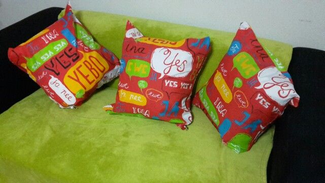 Love my new scatter cushions  quick and easy to make.
