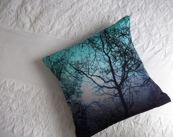Enchanted Forest digital print square cotton by Intimeslikethese, £45.00