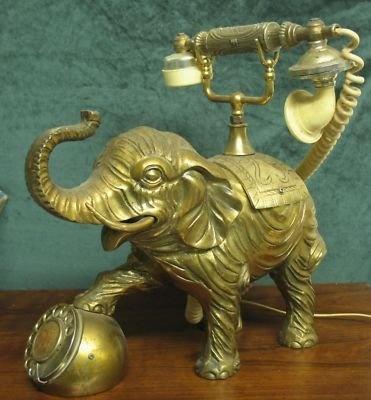 An Elephant Rotary phone?!? hmm.