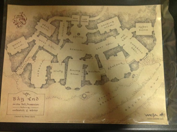The Floor Plan Room Plan For Bag End From J R R Tolkien