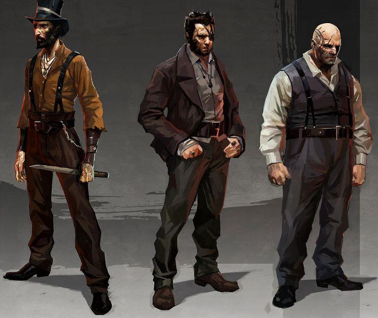 Dishonored - character concept art. Portrait. Digital painting. Design idea. #photoshop #game #video #male #men
