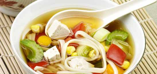 Chinese soep met tofu