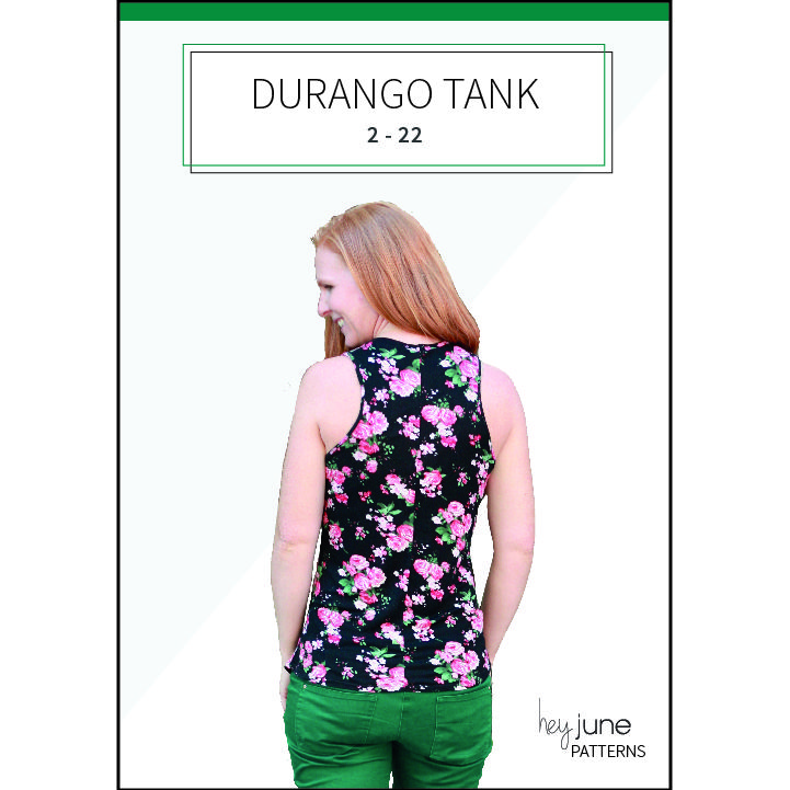 A FREE tank top sewing pattern for women in sizes 2 - 22