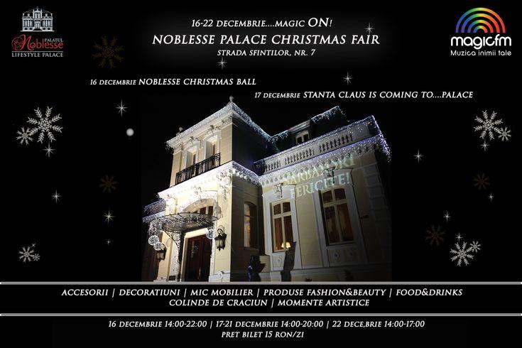 Îmbrăcat în haine de sărbătoare, Palatul Noblesse – Lifestyle Palace te așteaptă între 16 și 22 decembrie să descoperi cadouri de Crăciun unice și originale și să te bucuri de farmecul sărbătorilor…