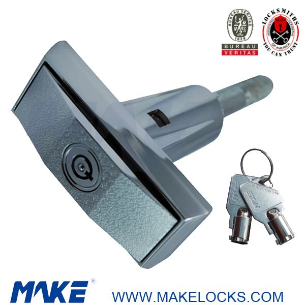 This is MK202 T-handle vending machine lock, firs for locking flower vending machine,egg vending machine, coca-cola vending machine, etc. Tubular radial pin key, offers higher security. We offer multi size & multi design lock option, different lock cylinder for choice.Supplied with two keys per lock. More info. mail to sales03 at makelocks.com #Thandlevendingmachinelock #tubularkey #coca-colavendingmachinelock #lockcylinder