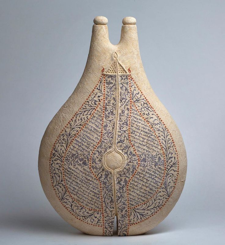 LOT 117 AVITAL SHEFFER Nadir III dry-glazed and printed earthenware clay 64.0 x 43.0 x 18.0 cm Estimate A$3,500 - A$4,500