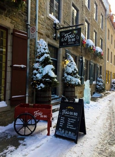 Quebec City, Canada is the most adorable winter vacation getaway location. If you are looking for a long weekend break in the winter, head to Quebec City. Quaint shops, cute streets, and lots of fun outdoor activities. Cozy fireplaces. Great food.